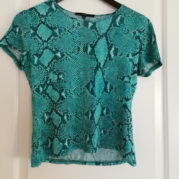 6ced0f2419c9 Gucci Tops | Green And Black Cropped Tshirt | Poshmark